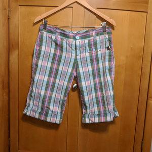 VOLCOM Plaid Bermuda Shorts Juniors Sz 5